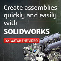 Create assemblies quickly and easily with SOLIDWORKS